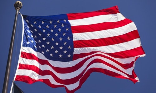 va hospital - american flag